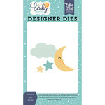Echo Park - Hello Baby Boy Collection - Designer Dies - Moon and Stars