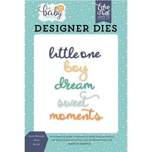 Echo Park - Hello Baby Boy Collection - Designer Dies - Sweet Moments Word
