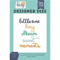 Echo Park - Hello Baby Boy Collection - Designer Dies - Sweet Moments Word