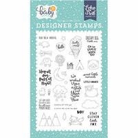 Echo Park - Hello Baby Boy Collection - Clear Photopolymer Stamps - New Arrival
