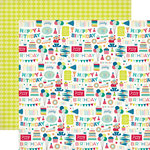 Echo Park - Birthday Collection - Boy - 12 x 12 Double Sided Paper - Birthday Party