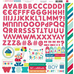 Echo Park - Birthday Collection - Boy - 12 x 12 Cardstock Stickers - Alphabet