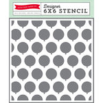 Echo Park - Birthday Collection - Boy - 6 x 6 Stencil - Balloons