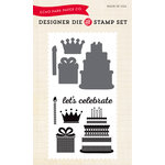 Echo Park - Birthday Collection - Girl - Designer Die and Clear Acrylic Stamp Set - Birthday Celebration