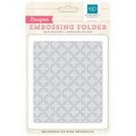 Echo Park - Birthday Collection - Girl - Embossing Folders - Quilted Star