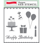 Echo Park - Birthday Collection - Girl - 6 x 6 Stencil - Happy Birthday