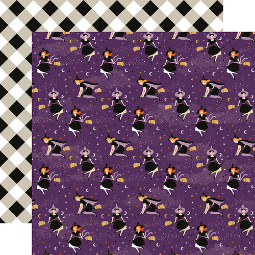 Echo Park - Bewitched Collection - Halloween - 12 x 12 Double Sided Paper - Wicked Witches