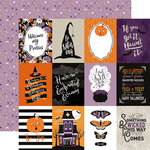 Echo Park - Bewitched Collection - Halloween - 12 x 12 Double Sided Paper - 3 x 4 Journaling Cards