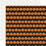 Echo Park - Bewitched Collection - Halloween - 12 x 12 Double Sided Paper - Phantom Pumpkins