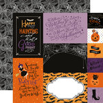 Echo Park - Bewitched Collection - Halloween - 12 x 12 Double Sided Paper - Journaling Cards