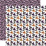 Echo Park - Bewitched Collection - Halloween - 12 x 12 Double Sided Paper - Witch Hats