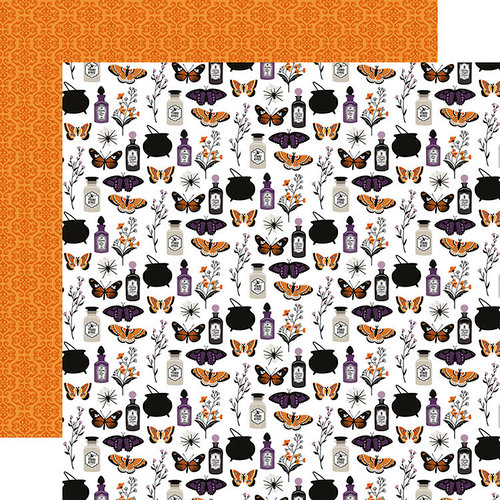 Echo Park - Bewitched Collection - Halloween - 12 x 12 Double Sided Paper - Trouble Brewing