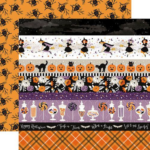 Echo Park - Bewitched Collection - Halloween - 12 x 12 Double Sided Paper - Border Strips