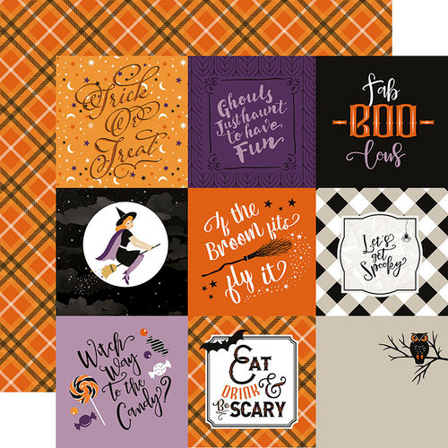 Echo Park - Bewitched Collection - Halloween - 12 x 12 Double Sided Paper - 4 x 4 Journaling Cards