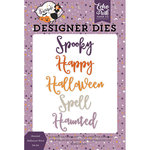 Echo Park - Bewitched Collection - Halloween - Designer Dies - Haunted Halloween Word
