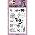 Echo Park - Bewitched Collection - Halloween - Clear Acrylic Stamps - Stay for a Spell
