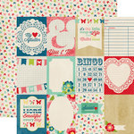 Echo Park - Beautiful Life Collection - 12 x 12 Double Sided Paper - Journaling Cards