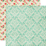 Echo Park - Beautiful Life Collection - 12 x 12 Double Sided Paper - Damask