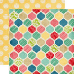 Echo Park - Beautiful Life Collection - 12 x 12 Double Sided Paper - Quatrefoil