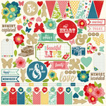 Echo Park - Beautiful Life Collection - 12 x 12 Cardstock Stickers - Elements