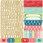 Echo Park - Beautiful Life Collection - 12 x 12 Cardstock Stickers - Alphabet