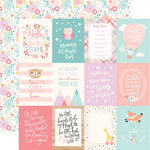 Echo Park - Hello Baby Girl Collection - 12 x 12 Double Sided Paper - 3 x 4 Journaling Cards