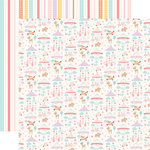 Echo Park - Hello Baby Girl Collection - 12 x 12 Double Sided Paper - Girl Mobiles