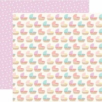 Echo Park - Hello Baby Girl Collection - 12 x 12 Double Sided Paper - Bassinets