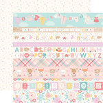 Echo Park - Hello Baby Girl Collection - 12 x 12 Double Sided Paper - Border Strips