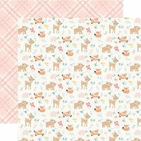 Echo Park - Hello Baby Girl Collection - 12 x 12 Double Sided Paper - Woodland Friends