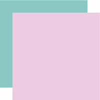 Echo Park - Hello Baby Girl Collection - 12 x 12 Double Sided Paper - Purple