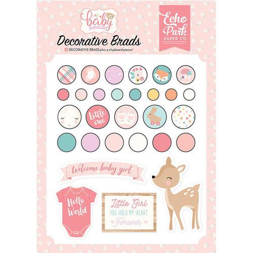Echo Park - Hello Baby Girl Collection - Decorative Brads