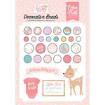 Echo Park - Hello Baby Girl Collection - Decorative Brads