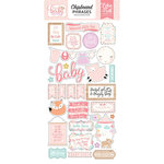 Echo Park - Hello Baby Girl Collection - Chipboard Stickers - Phrases