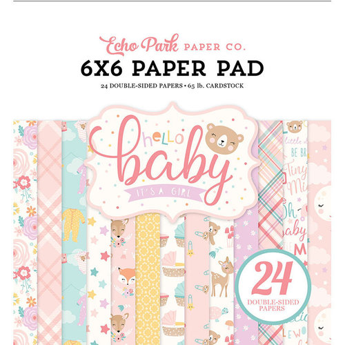 Echo Park - Hello Baby Girl Collection - 6 x 6 Paper Pad