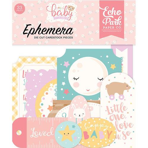 Echo Park - Hello Baby Girl Collection - Ephemera