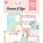 Echo Park - Hello Baby Girl Collection - Ephemera - Frames and Tags