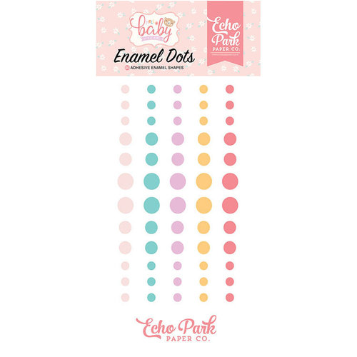 Echo Park - Hello Baby Girl Collection - Enamel Dots