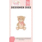 Echo Park - Hello Baby Girl Collection - Designer Dies - Sweet Teddy Bear