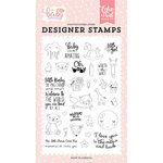 Echo Park - Hello Baby Girl Collection - Clear Photopolymer Stamps - Little Baby