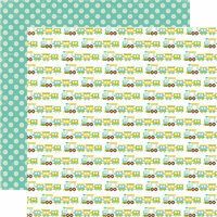 Echo Park - Bundle of Joy Collection - Boy - 12 x 12 Double Sided Paper - Choo Choo Train