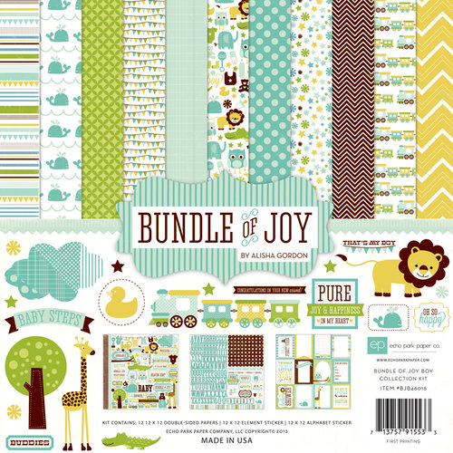 Echo Park - Bundle of Joy Collection - Boy - 12 x 12 Collection Kit