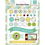 Echo Park - Bundle of Joy New Addition Collection - Boy - Decorative Brads