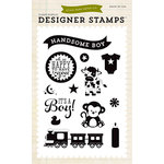 Echo Park - Bundle of Joy New Addition Collection - Boy - Clear Photopolymer Stamps - It's A Boy