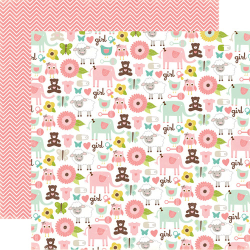 Echo Park - Bundle of Joy Collection - Girl - 12 x 12 Double Sided Paper - It's A Girl