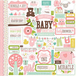 Echo Park - Bundle of Joy Collection - Girl - 12 x 12 Cardstock Stickers - Elements