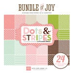 Echo Park - Bundle of Joy Collection - Girl - 6 x 6 Paper Pad - Dots and Stripes