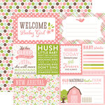Echo Park - Bundle of Joy New Addition Collection - Girl - 12 x 12 Double Sided Paper - Welcome Baby Girl
