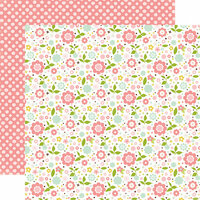 Echo Park - Bundle of Joy New Addition Collection - Girl - 12 x 12 Double Sided Paper - Baby Floral