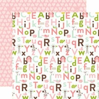 Echo Park - Bundle of Joy New Addition Collection - Girl - 12 x 12 Double Sided Paper - Alphabet Antics